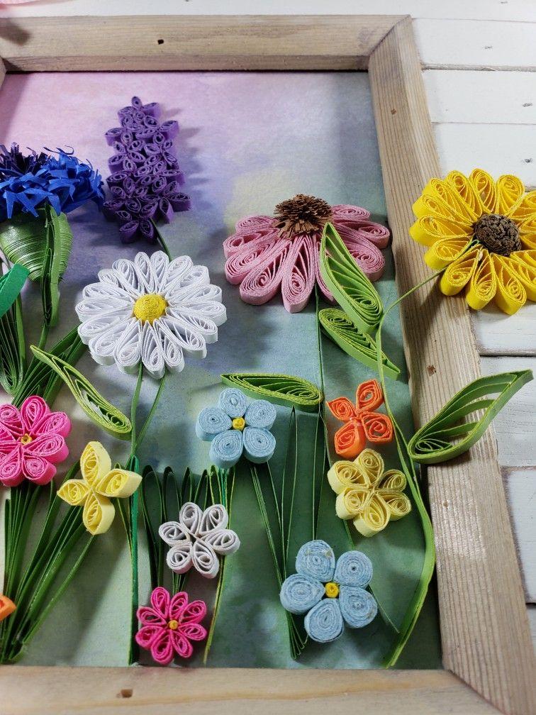 Danelle S Quilling Nebraska Wildflowers Paper Quilling