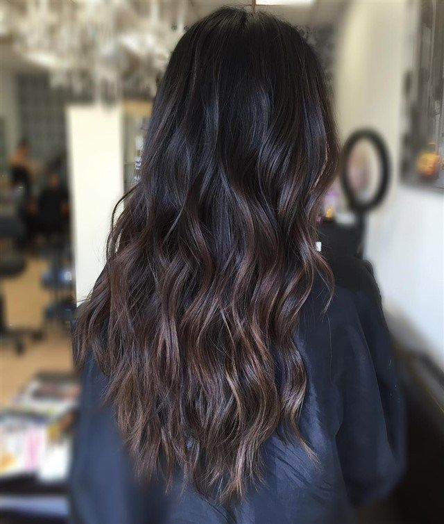 Dark Brown Hair With Highlights #ombre#hairinspo