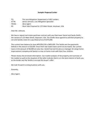 Proposal Letter Sample Format 32 Sample Business Proposal Letters - purchase proposal sample