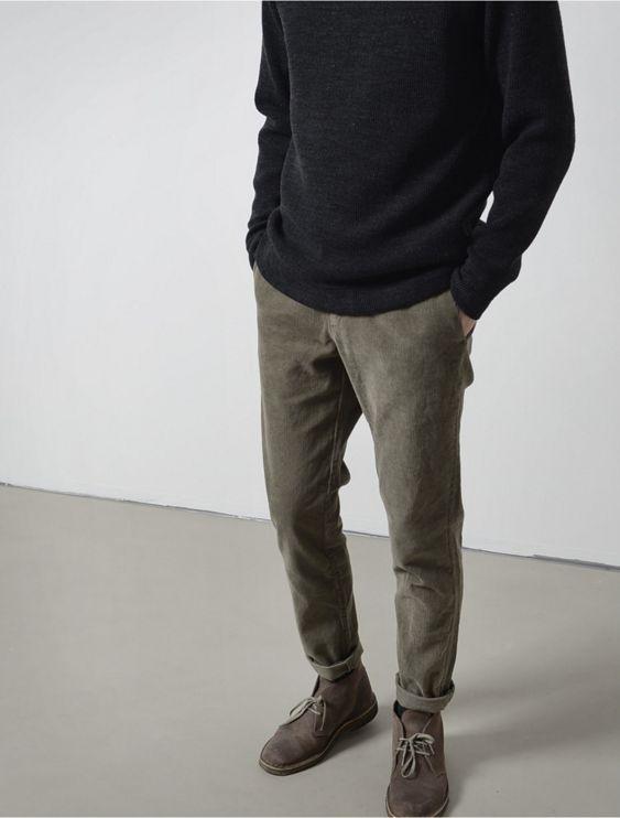 Clarks and khaki pants