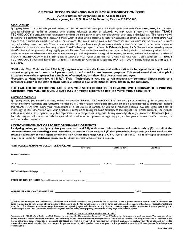 Letter Of Release Form Medical Information Release Form Blank - background check release form