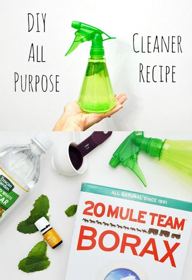 Four Ingredient DIY All Purpose Cleaner Recipe - DIY Candy