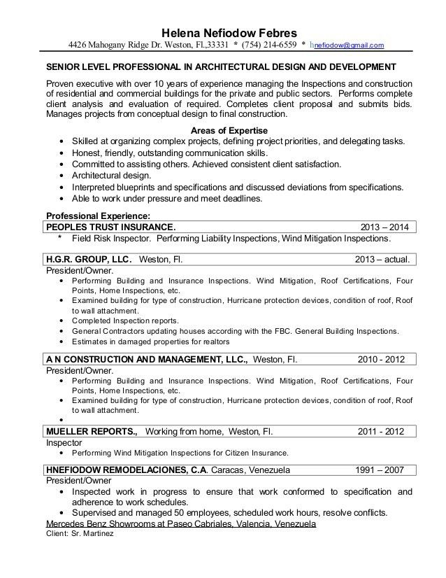 Property Inspector Resume Professional Home Inspector Templates Building  Resume   Property Inspector Resume  Construction Inspector Resume