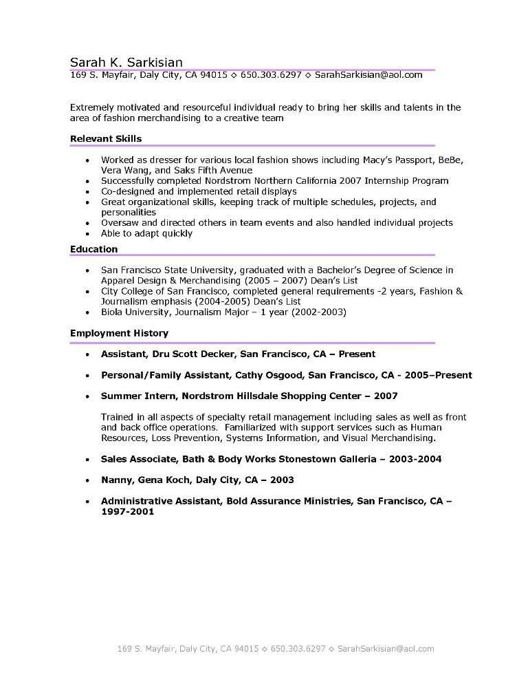 Merchandise Assistant Cover Letter Node494cvresumecloud