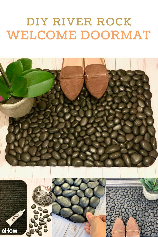 DIY River Rock Welcome Doormat