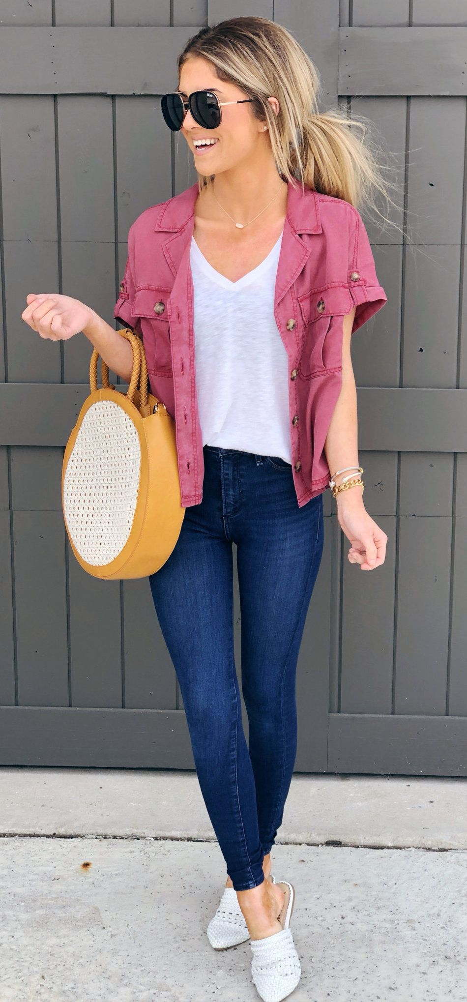 brown and white handbag #summer #outfits