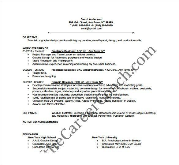 powerpoint designer resume