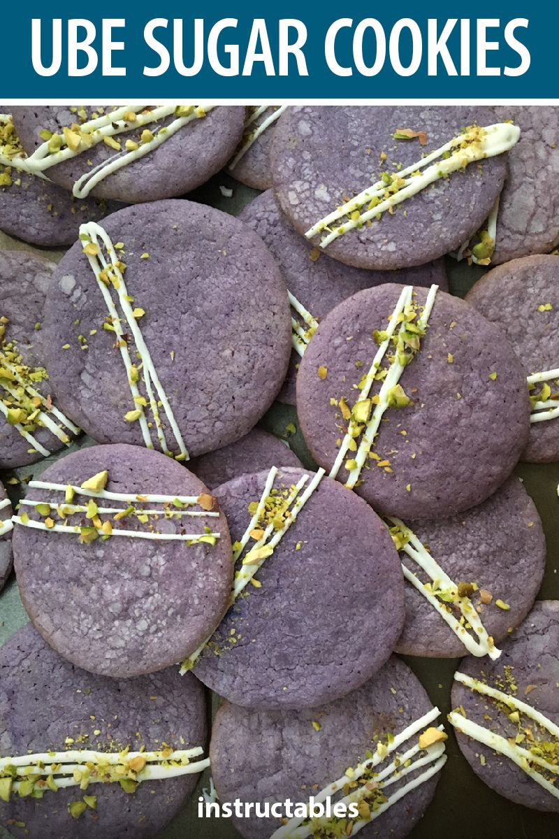 These bright sugar cookies are made from use, purple yams, which add a nutty flavor similar to pistachios. #Instructables #baking #dessert #snack #treat