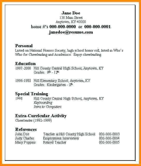 First Job Resume Builder Resume Builder Myfuture, Simple Job - resume builder for high school students