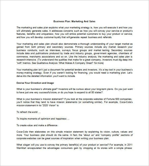 Format Of Sales Letter 9 Sales Letter Templates Free Sample - sample sales plan