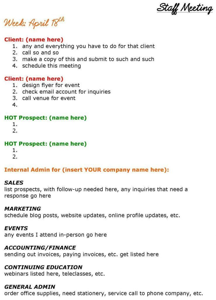 how to make an agenda