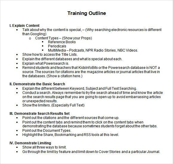 Training Document Template Word Word Manual Template 5 Free Word - training outline template