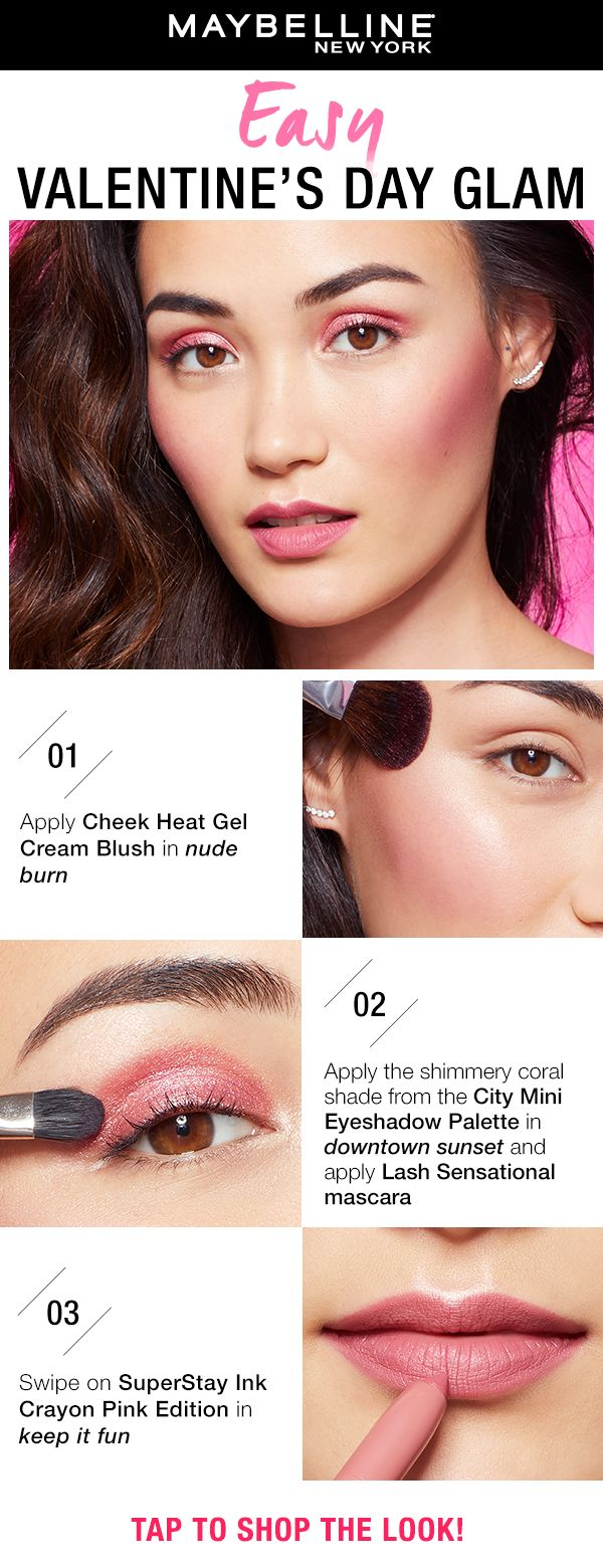Easy Valentine's Day Makeup Using Drugstore Products