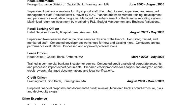 in store banker resume