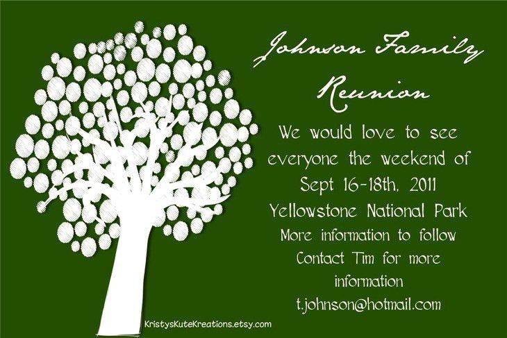 Family Reunion Invitation Template family gathering invitation – Family Gathering Invitation Wording