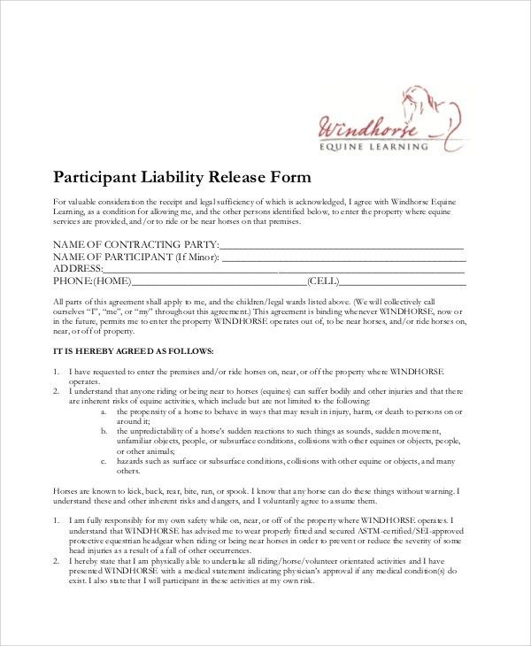 release agreement wtfhyd - release agreement