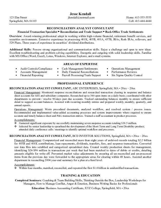 consulting resume examples examples of resumes