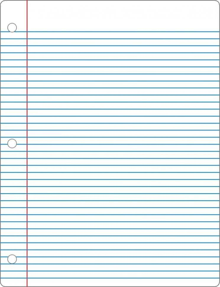 Free Printable Notebook Paper College U0026 Wide Ruled  Notebook Paper Template Word