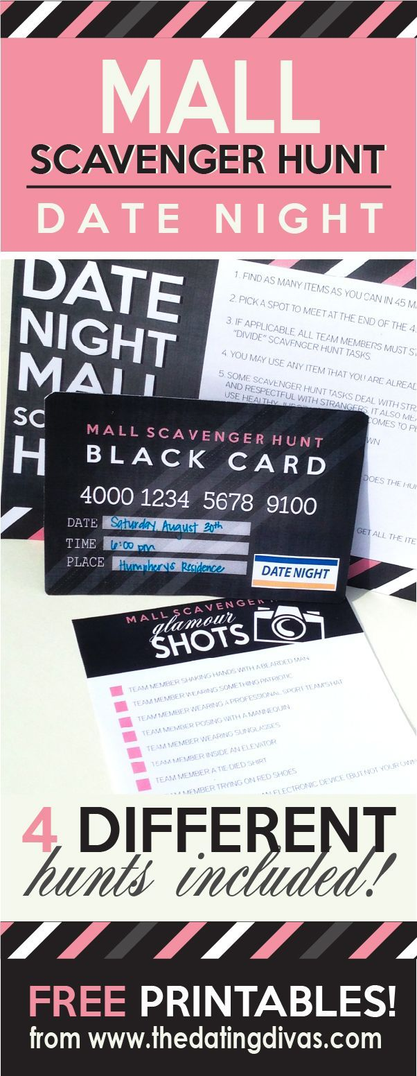 Mall Scavenger Hunt Date Night