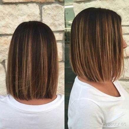 62+ ideas hair medium length straight brown blunt bob for 2019