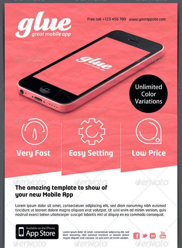 Glue Mobile App Promotion Flyer