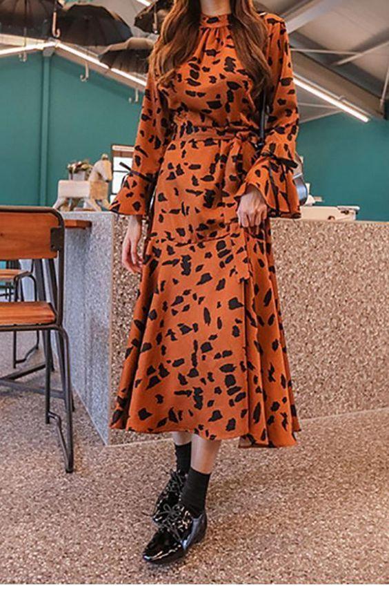 Amazing long dress for Fall