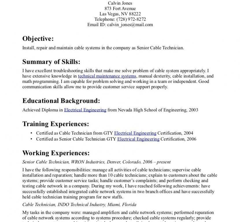 Monster Resume Template Resume Sample 23 Construction