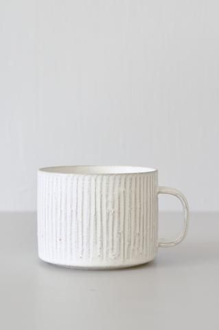Pleated Cup - #Cup #Pleated #porcelaine #ceramicmugs Pleated Cup - #Cup #Pleated #porcelaine