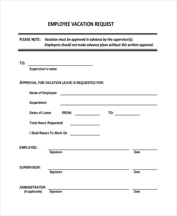 sample leave request form efficiencyexperts - time off request forms