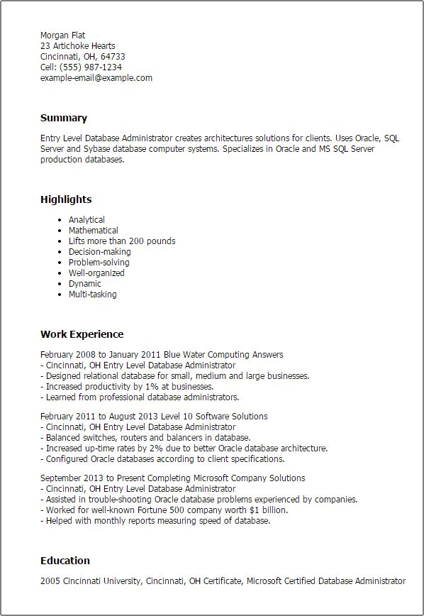 ... Database Administrator Cover Letter Top 5 Database Administrator    Oracle Database Administrator Cover Letter ...
