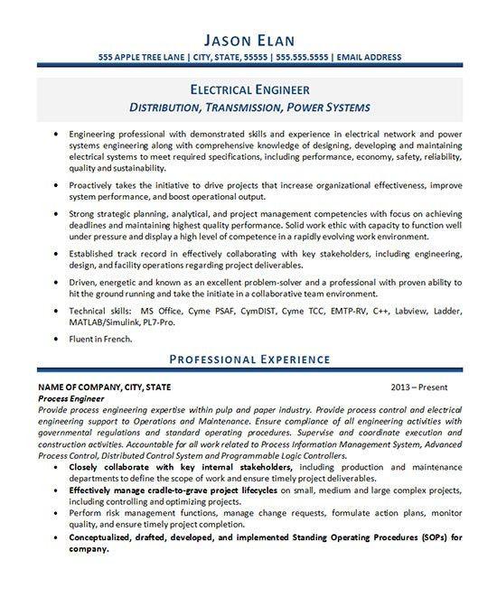 Power Engineer Sample Resume] Engineer Resume Sample ...