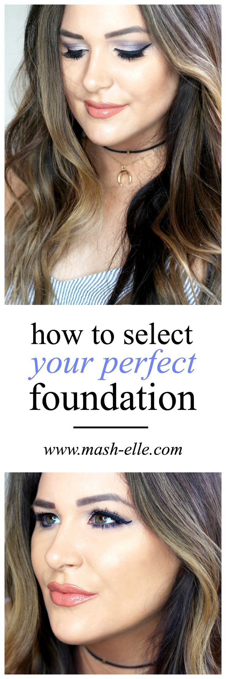 Find the foundation PERFECT for your skin! | Beauty blogger Mash Elle breaks down how to select your perfect shade of foundation to get your best match! Affordable makeup / airbrush makeup / beauty blogger