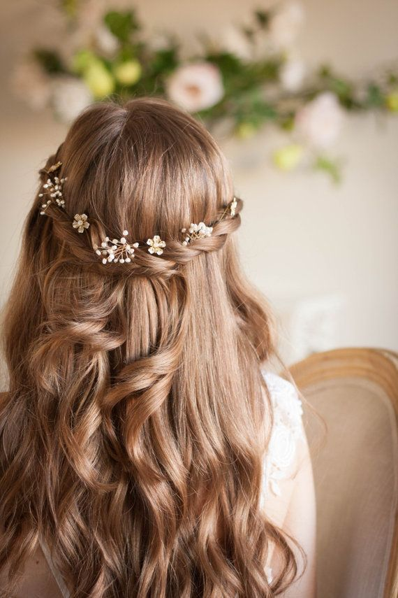 """Babies breath and blossom hair pin set bridal by AnnaMarguerite<p><a href=""""http://www.homeinteriordesign.org/2018/02/short-guide-to-interior-decoration.html"""">Short guide to interior decoration</a></p>"""