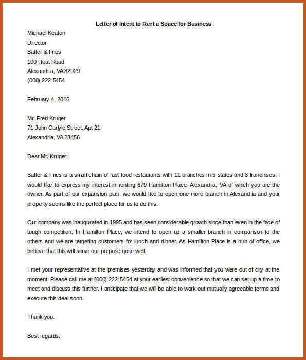 10 real estate letter of intent templates free sample example - sample pharmacy residency letter of intent