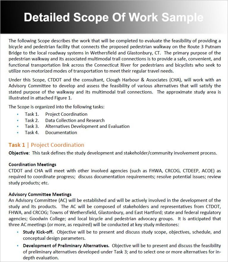 scope of work template free