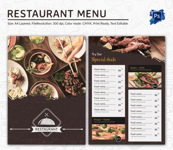 Restaurant Brochure Template 27 Restaurant Brochure Templates - free restaurant menu template word
