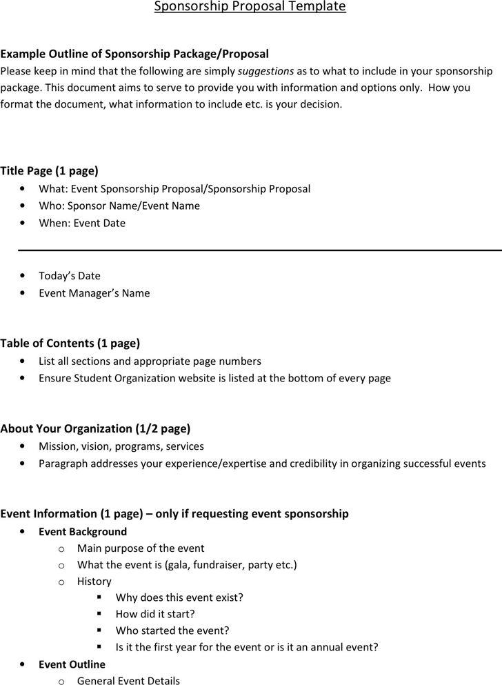 Party Sponsorship Proposal Ltaf Sponsorship Proposal, Proposal - event sponsorship letter sample