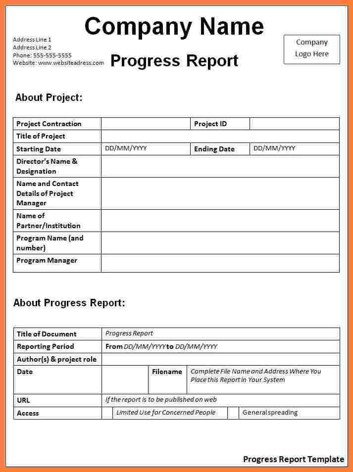 student progress report template node2004resumetemplate