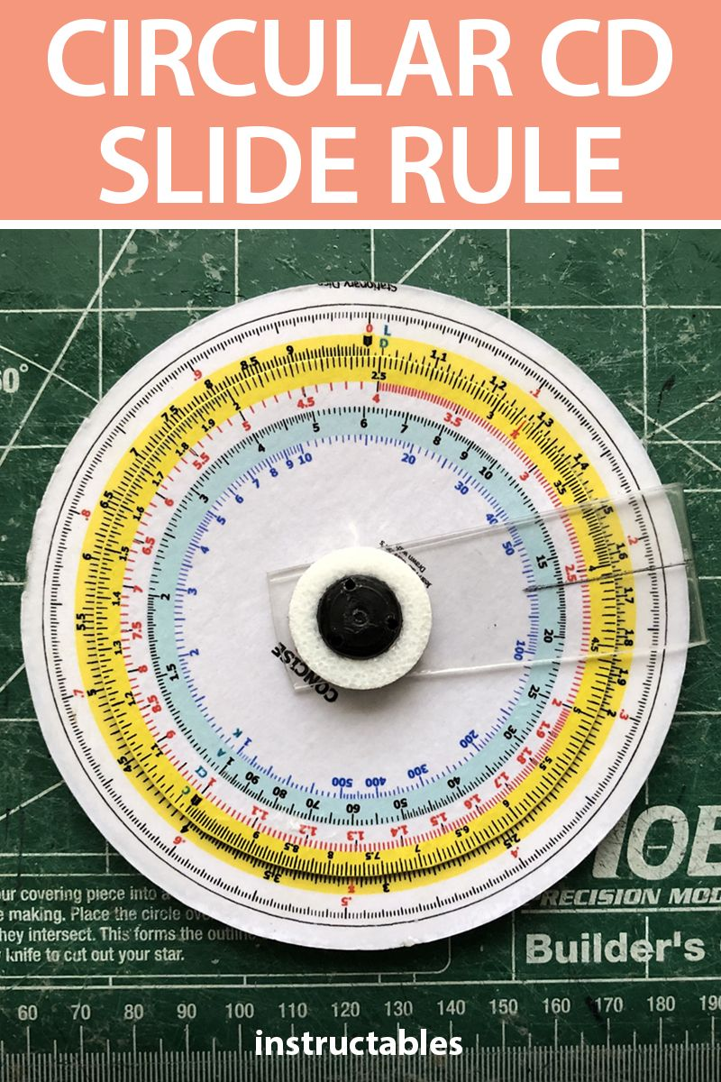 Make a circular slide rule using an old CD. This is a great classroom activity for students to both learn how to build one ad use it to get numeric ability. #Instructables #upcycle #reuse #school #education #science #math