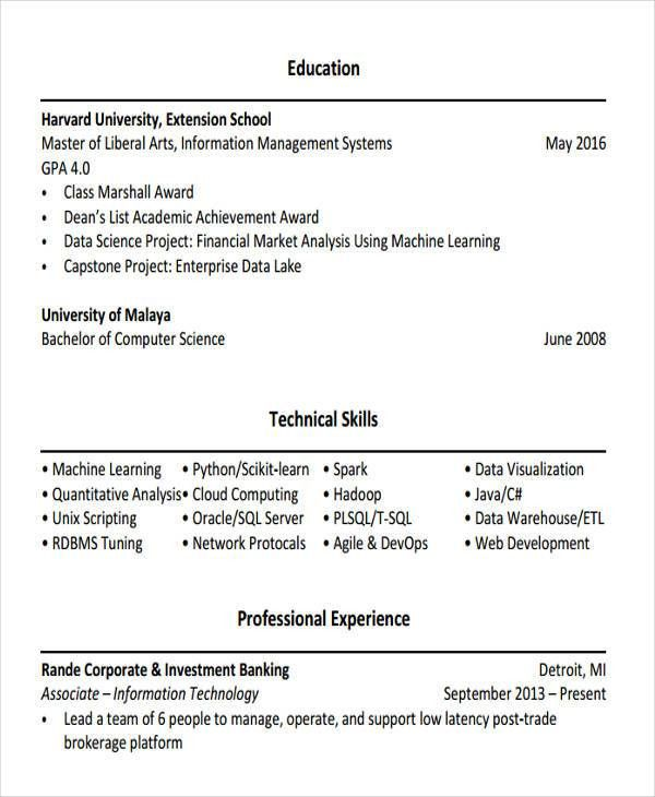 Investment Banking Resume Example Investment Banking Resume - investment banking resume template