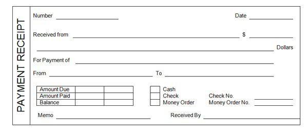 Payment Receipt 18 Payment Receipt Templates Free Sample Example - payment receipt sample