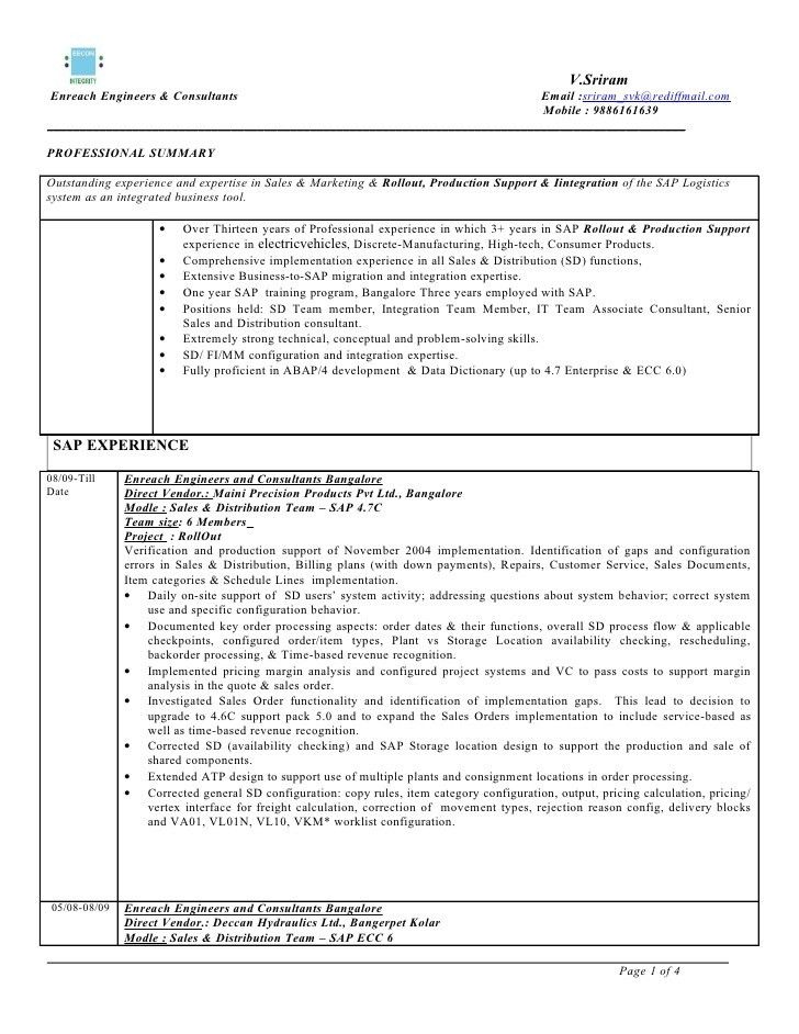 sample sap sd consultant cover letter - Zoray.ayodhya.co
