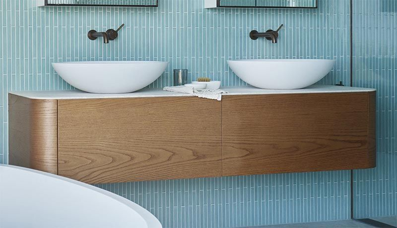Bathroom Inspiration – A Palette Of Aqua Blue, White, Wood, And Grey