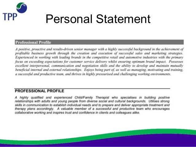 Personal Profile Statement On A Cv 8 Free Examples Cv Plaza