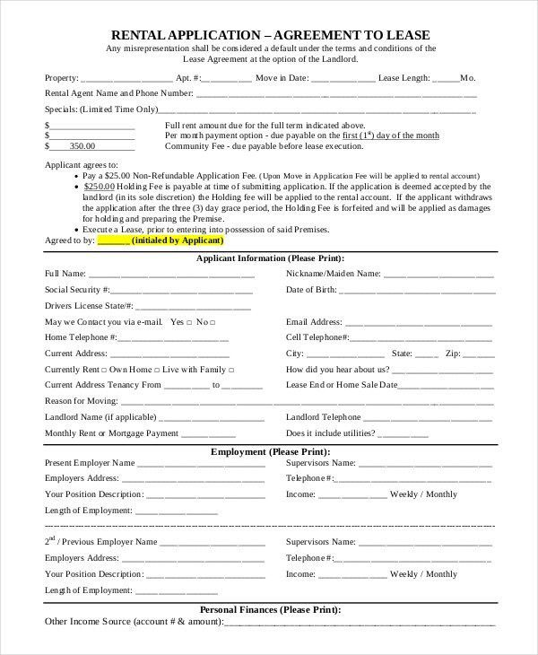 Simple Rental Contract Simple Rental Agreement 34 Examples In Pdf - rent to own home contract