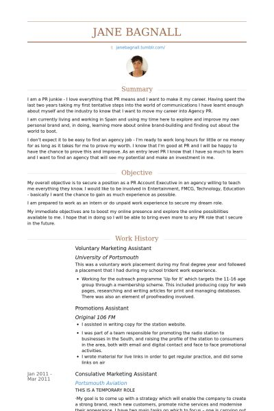 Escrow Assistant Resume Chronological Escrow Assistant Resume - marketing assistant resume