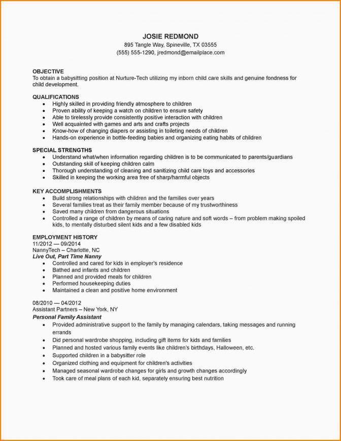 Babysitter Resume Samples Babysitter Resume Example Writing Guide - babysitter resumes