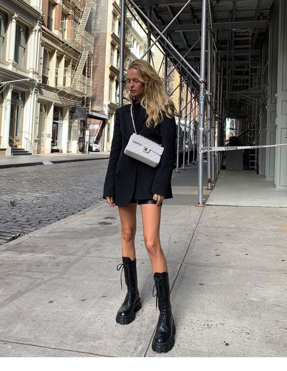 Black outfit with boots