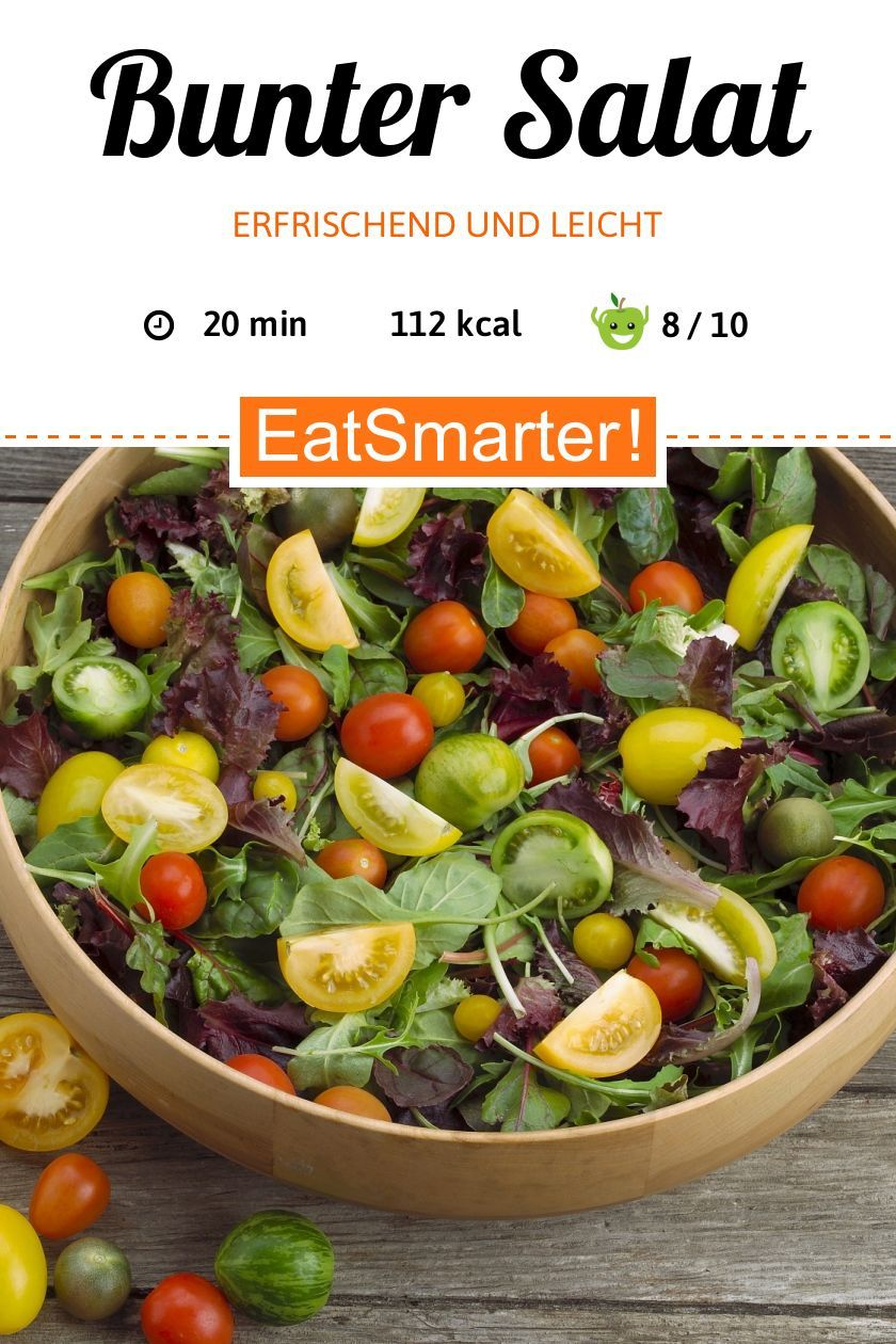Salat mit bunten Tomaten - smarter - Kalorien: 112 kcal - Zeit: 20 Min. | eatsmarter.de