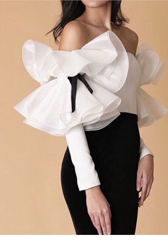 Cute white shirt with ruffles